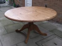 Solid Pine Drop Leaf Dining Table Good Conditon