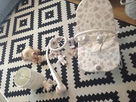 Mamas and papas nursery collection including baby bouncer/chair