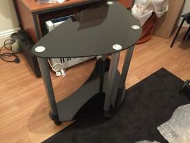 Lovely black tv stand or can be used for other things