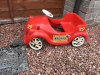 Vintage triang Chubby pedal car toddler red
