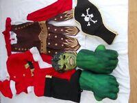 Fancy Dress Bundle (Roman Solider, Pirate Hat, Hulk Mask & Gloves, Santa Suit)
