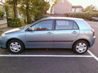 Toyota corolla vvti 2002 in very good condition MOT Nov 2017 *( PRICE REDUCED)