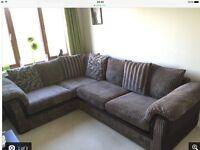 Fabric Corner Sofa Mocha