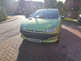 peugeot 206cc 2.0 16v for parts or repair, breaking, drive it away