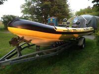 21ft RIB boat/ 125hp Mariner outboard
