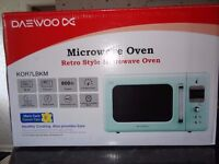 DAEWOO KOR7LBKM 800W Microwave in Mint Green with 20L Capacity/New