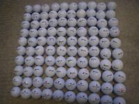 LOT of 100 GOLF BALLS. WHITE. 80 X SRIXON and 20 X WILSON STAFF. VERY GOOD CONDITION.