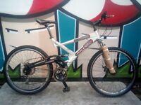 Raleigh Lithium Full Suspension Disk Brake Large Aluminium Mountain Bike