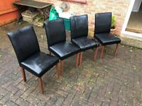X4 leather chairs