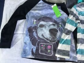 Brand new with tags 3-4 year old boys clothes bundle includes 9 tops long sleeve tshirts,