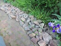 about 90 rockery stones.