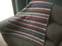 Hand crochet throw