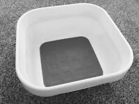 John Lewis White Plastic Washing Up Bowl With Cushioned Base & Easy-grip Handles