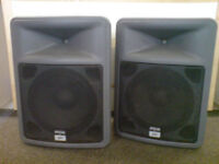 Peavey PR15 Lightweight PA Speakers (pair) Made in USA