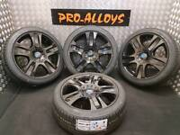 "18"" FORD ST ALLOY WHEELS AND NEW TYRES REFURBISHED 5x108 MONDEO ST CONNECT VAN"