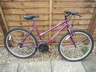 "Girls / Childs (8-12 Year Olds) Mountain Bike -Phantom 'Integra' 24"" Wheels/18 Speed -Ready To Ride!"