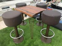 Brown Stools / Chairs / Seats x 4