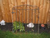 Single driveway gate, metal.Garden gate