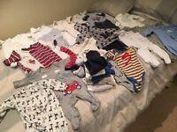 Bundle of newborn / 0-3 baby boy clothes