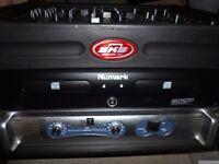 DJ KIT. Professional equipment, deck, lights, smoke, bubble, rainbow lights, speakers x 2