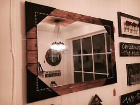 Handmade Rustic Mirror