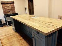 Freestanding kitchen island with sink insert