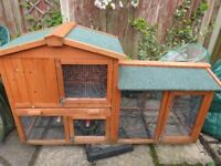 rabbit hutch with cover - good condition