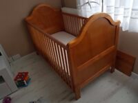 Baby's and toddler wooden cot £20 ono