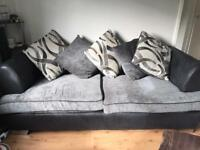 Couch and cuddler - charcoal grey