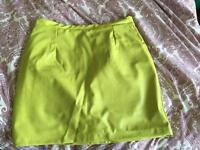 River Island skirt neon - size 12
