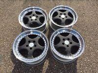 RH zw1 deep dish alloy wheels, split rims, 5x112, Vw Audi Mercedes