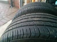 225/40/R18 tyres x2 6mm tread left