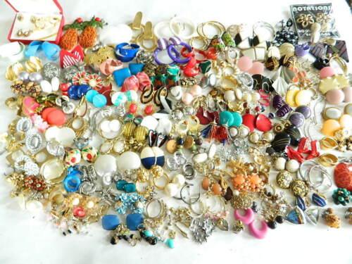 200+ Pairs Vintage Modern Earring Lot Pastelli  Coro Disney Tara Freirich Monet