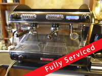 2 group serviced Sanremo espresso coffee machine for coffee shop / cafe with SR70 grinder