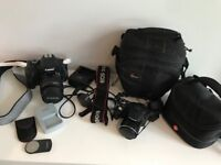 Canon 600D and Canon PowerShot SX510 HS with original boxes