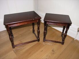 2 Coffee Tables One slides Into Other Ideal Shabby Chic