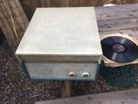 Elizabethan pop player and a collection of records £60 ono