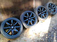 """17"""" Genuine Mini Cooper S Alloy Wheels with very good branded run flat tyre"""