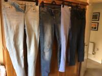 Bundle of ladies jeans size 12
