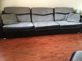 SISI ITALIA leather sofa. Corner sofa. Reversible cushions