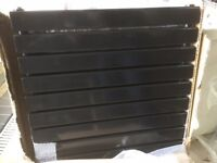 BRAND NEW DESIGNER HORIZONTAL BLACK HIGH GLOSS D/BL RADIATOR PERFECT CONDITION 900 X 640MM WIDE £100