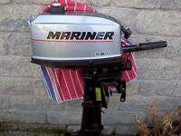 Mariner 4 hp Outboard Standard / Short Shaft Like New Condition With very little use
