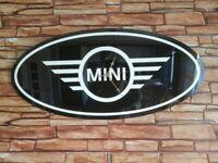 Large mini logo wall clock
