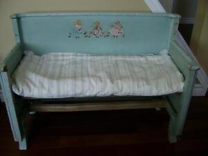 Vintage child's metal bench