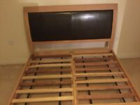 Double bed frame and headboard. Great condition. Faux leather headboard.