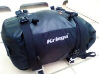 KRIEGA US20 DRY BAG MOTORCYCLE TAIL PACK LUGGAGE TOURING COMMUTING 20 LITRE