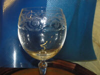 Crystal Glasses 6 off