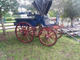 Waggonette and carts