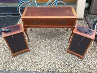 Vintage dynatron wooden music system record player