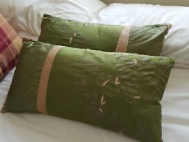 Green and Gold Cushions